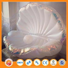 Trending hot products water sports equipment inflatable seashell,swimming pool float lounge clam shell