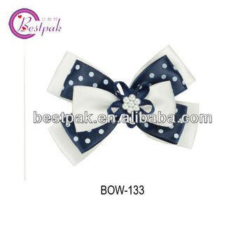 beautiful colors satin ribbon bow hair clip