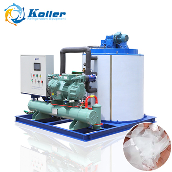 Koller 10 Tons Industrial Flake Ice Making Machine for Fishery Concrete Cooling
