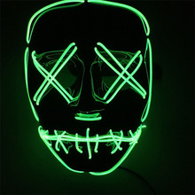 2018 COOL flashing halloween wholesale el party mask