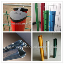 Green used metal steel fence posts(20 years factory,ISO,CE)