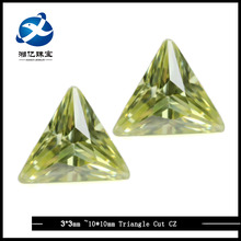 Amazing Jewel Fashion Apple Green Triangle Cut CZ Synthetic Stones