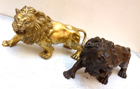 wholesale brass HSBC lion statue/ lucky small size/fengshui products