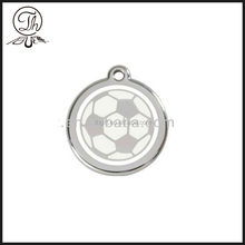 2018 Football round metal pendant necklace jewelry
