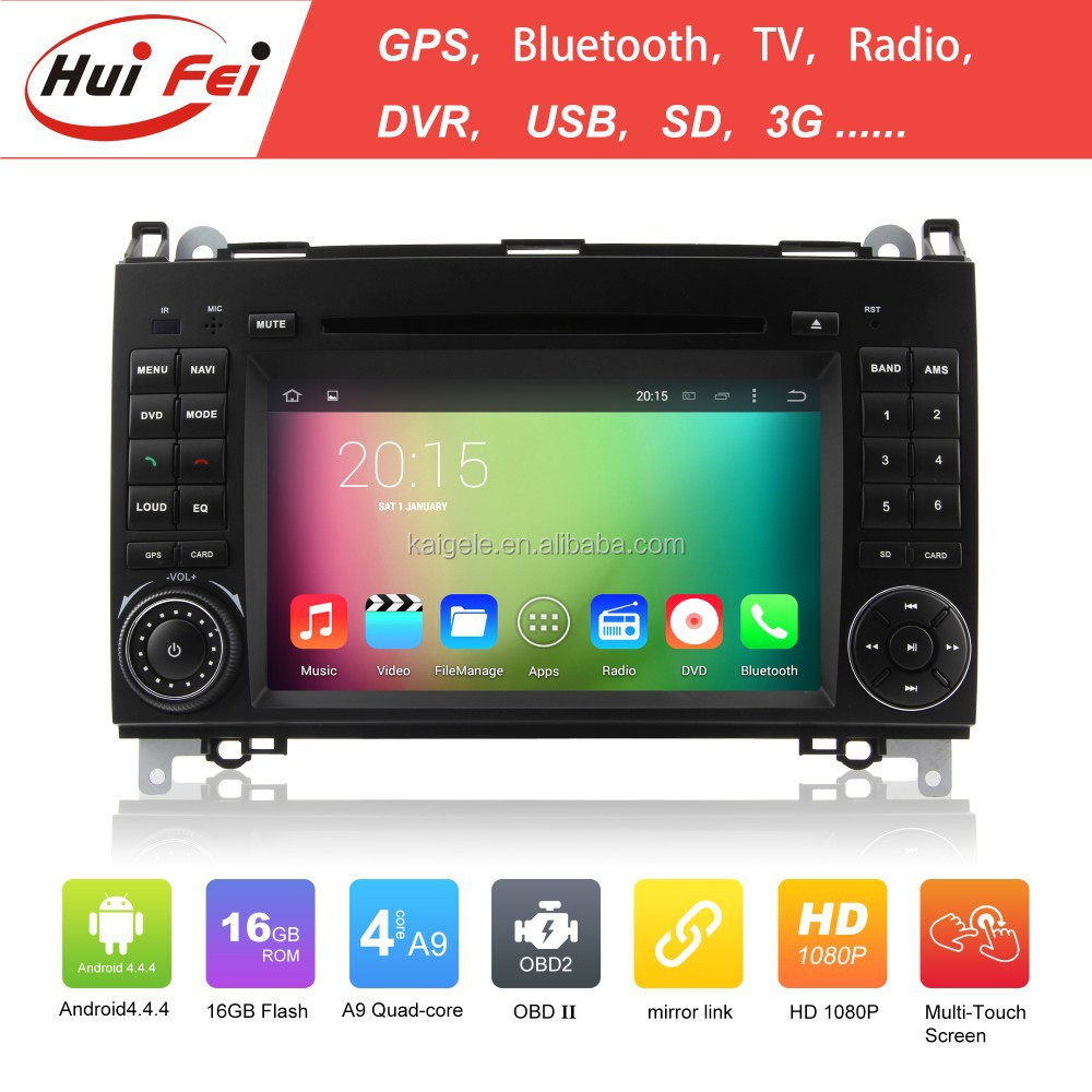 In-dash Car Entertainment CD/DVD Player Interface For Benz Sprinter W906/W209/W311 With Gps Radio Wifi Bluetooth