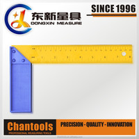 8 INCH Printed Steel Tri Square/Try Square/Measuring Ruler with Plastic Handle