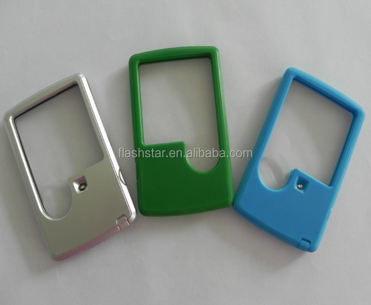 Promotional custom logo led Magnifier card