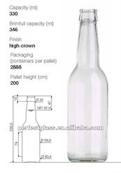 330ml Flint High Crown Long Neck Beer Bottle
