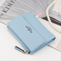 Hot Fashion Women's Thin Zipper purse Ladies PU Leather Wallets Female coin Mini Card Case Cheap Wallets