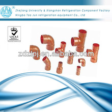 Different copper fittings for refigeration parts