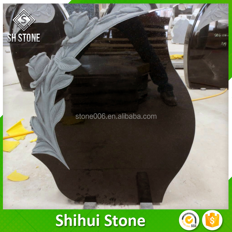 Wholesale popular design make to order granite mini tombstone with carving
