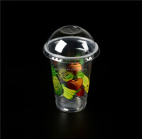 Personalized clear dispoasble plastic cup with lid
