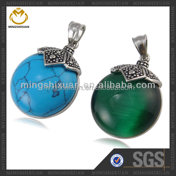 Celebrity Jewelry Vintage Style stainless steel turquoise jewelry