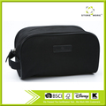 Black Canvas Portable Travel Pouch Shaving Bag Toiletry Kit For Men