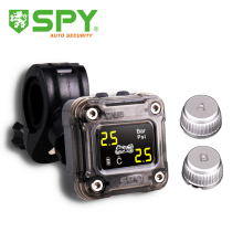 SPY DIY installation external sensors tire pressure monitoring system motorcycle TPMS