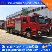 12-15Tons SINO HOWO water and foam fire trucks Dry powder fire engine