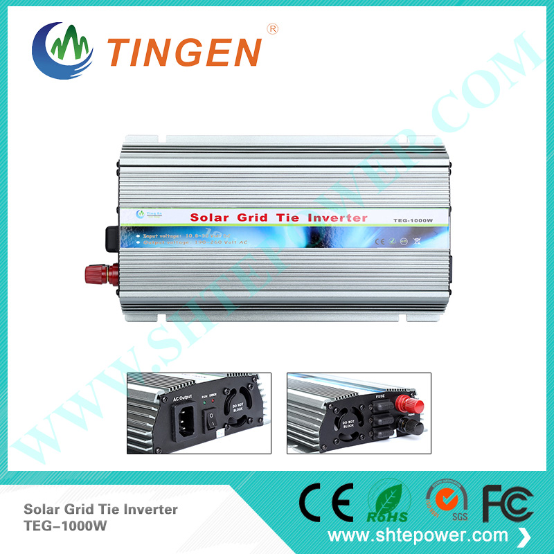 1000w 10.8-30v dc to ac 110v 220v solar inverter ,pure sine wave pv inverter 1000w