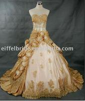 2010 new fashion wedding gown(sleeveless)