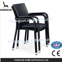 Stock Aluminum frame outdoor rattan restaurant