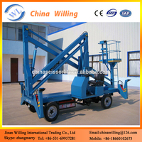 Automatic telescopic hydraulic boom lift/cherry picker truck articulated lift
