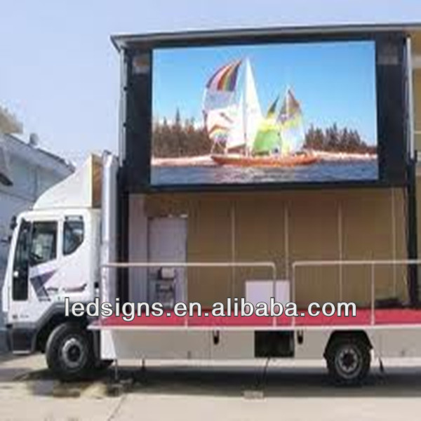 Hidly p7.62/p10/p12/p12.5/p16/p20/p25 outdoor waterproof single/double/three/full color led screen truck mobile led display