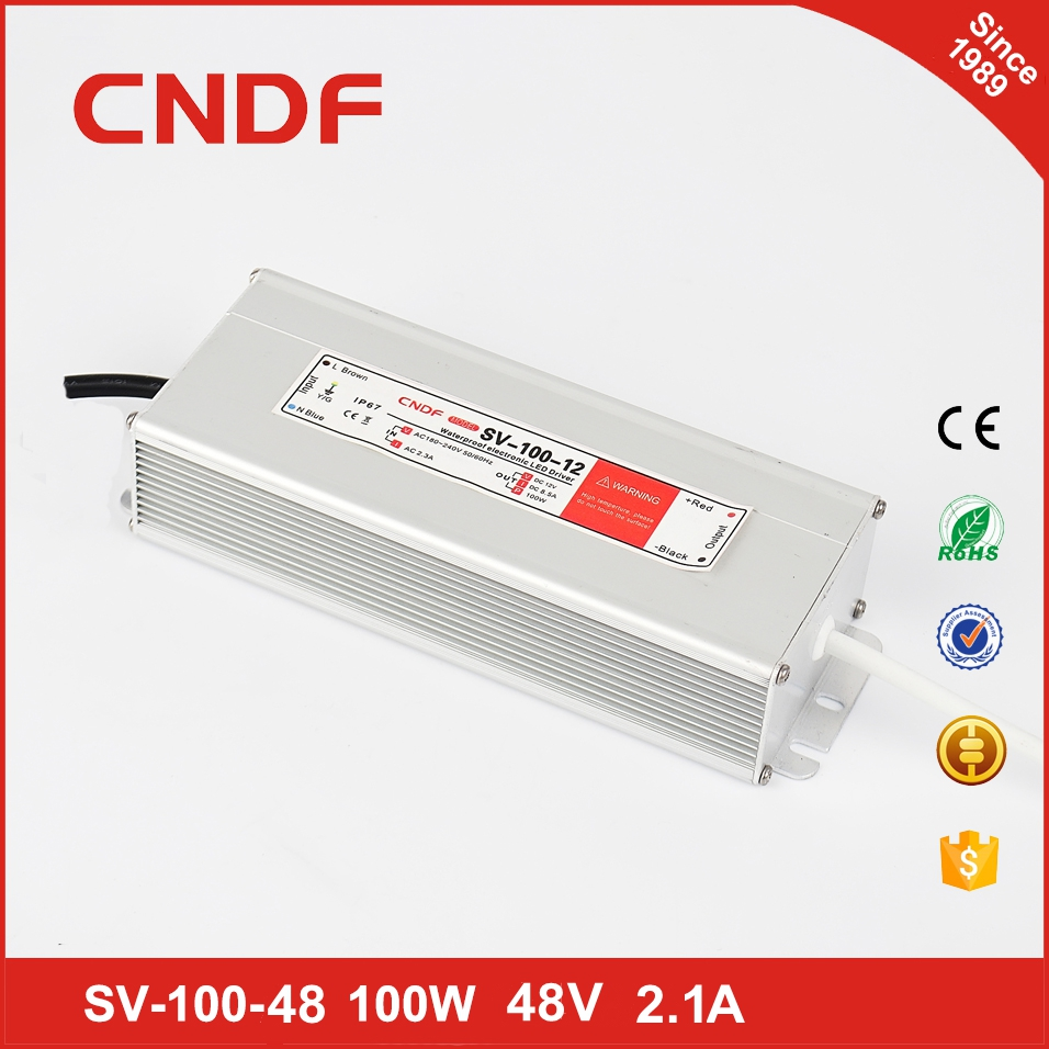 Competitive price 48v led driver 100W waterproof IP67 LED driver psu 100w 48v 2.1a