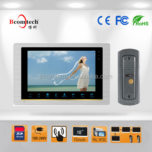 Villa Intercom System Video Door Phone with Ringtones for Morning / Afternoon / Night with Different Volume Size
