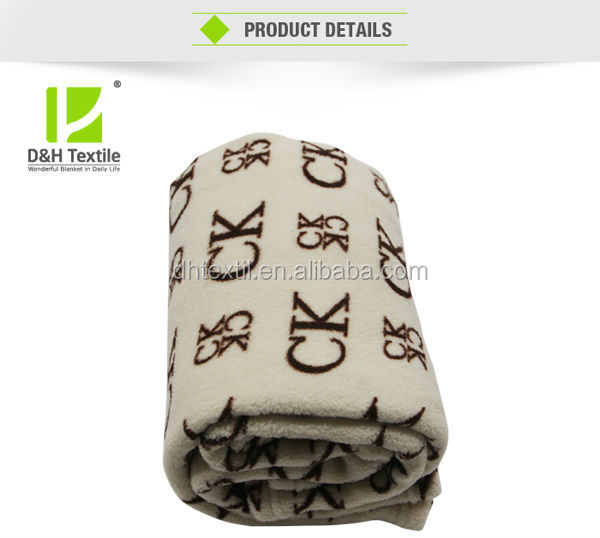 Hot sale signature coral fleece blanket