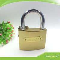 main product made in china slim&light brass plated padlock