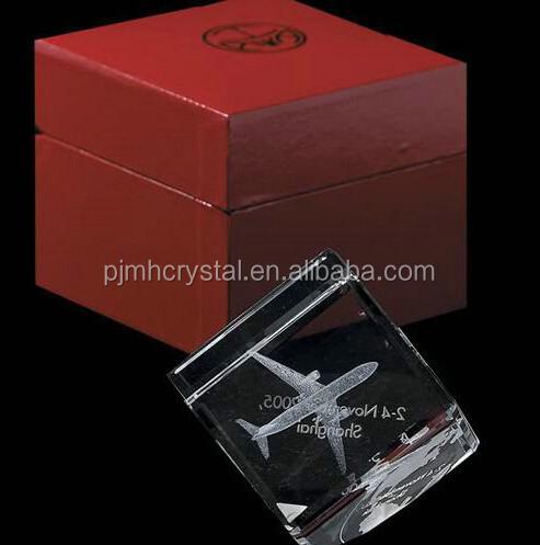 MH-FT062 3d laser engraved plane crystal cube