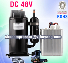 Hot Selling! Solar cooling system condenser units for transport truck condenser unit of dc 48v compressor