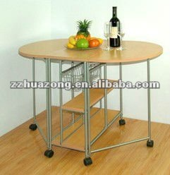 mult-function dining table with wheels