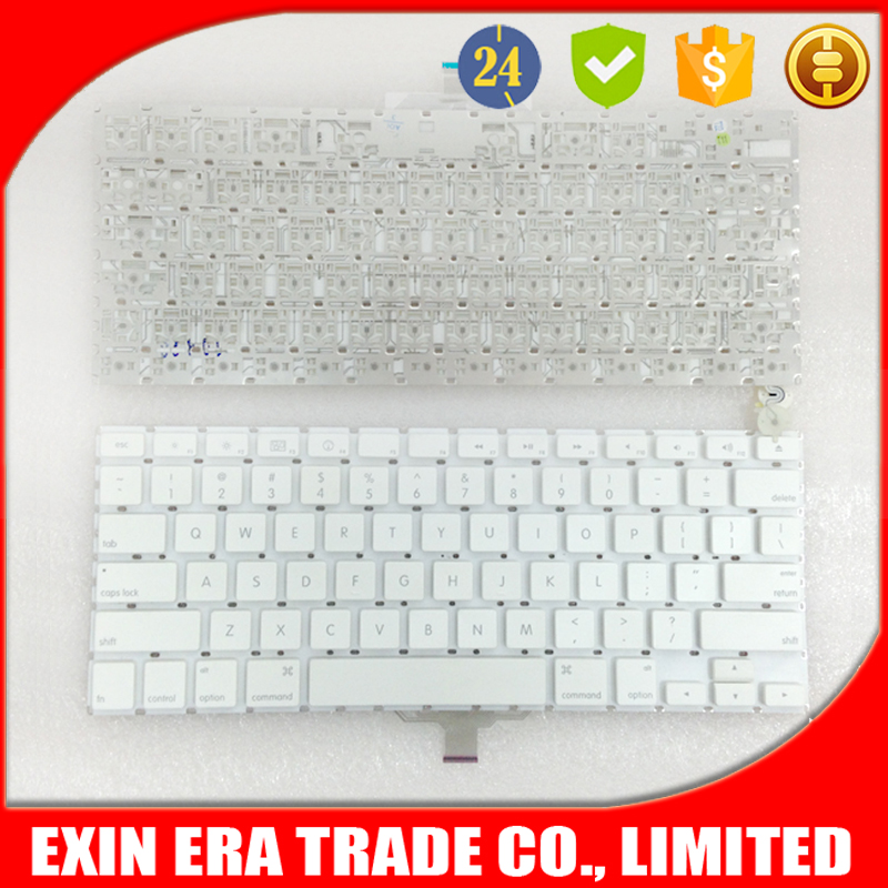"Genuine 13.3"" For Apple MacBook A1181 A1185 US / UK Layout Keyboard White"