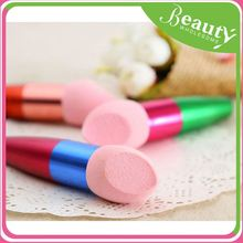 double sided cosmetic brush synthetic ,H0T039 barber powder brush , colored makeup brush