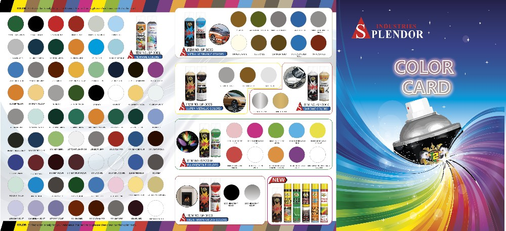 Splendor waterproof aerosol spray paint all colors/quick dry spray paint/car paint