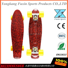 "graphic print New version 22"" board mini cruiser long Girls' and Boys' LED flashing wheels banana style longboard Skateboard"