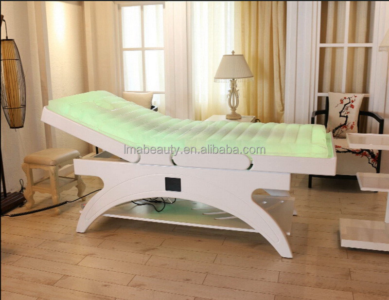 Best quality hotsell water massage bed table with led light