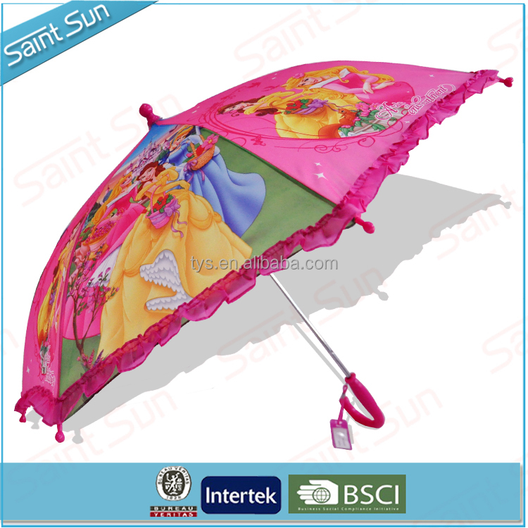 Snow White Princess Cartoon Character Lace Umbrella For School Girls