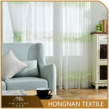 Factory supplier embroidery beautiful bedroom voile fabric curtain