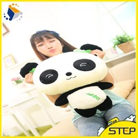 Smiling Panda with Bamboo Plush Toy Lovely Plush Panda Dolls for Kids and Girls ST16238