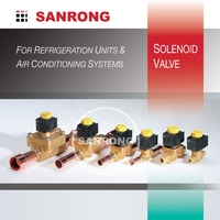220 volt Air Conditioner Brass Solenoid Valve with 1/4 3/8 1/2 inch Flare Solder for Air Conditioning Parts
