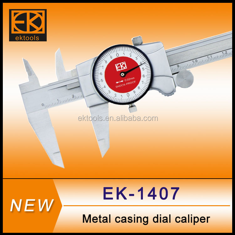 stainless steel read metric dial caliper