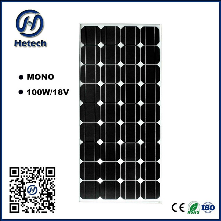 MC4 compatible connector mono solar panel 100w 12v