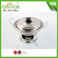 Newest Stainless Steel Hot Pot/Mini Chafing Dish with fuel/mini chafing dish for restaurant
