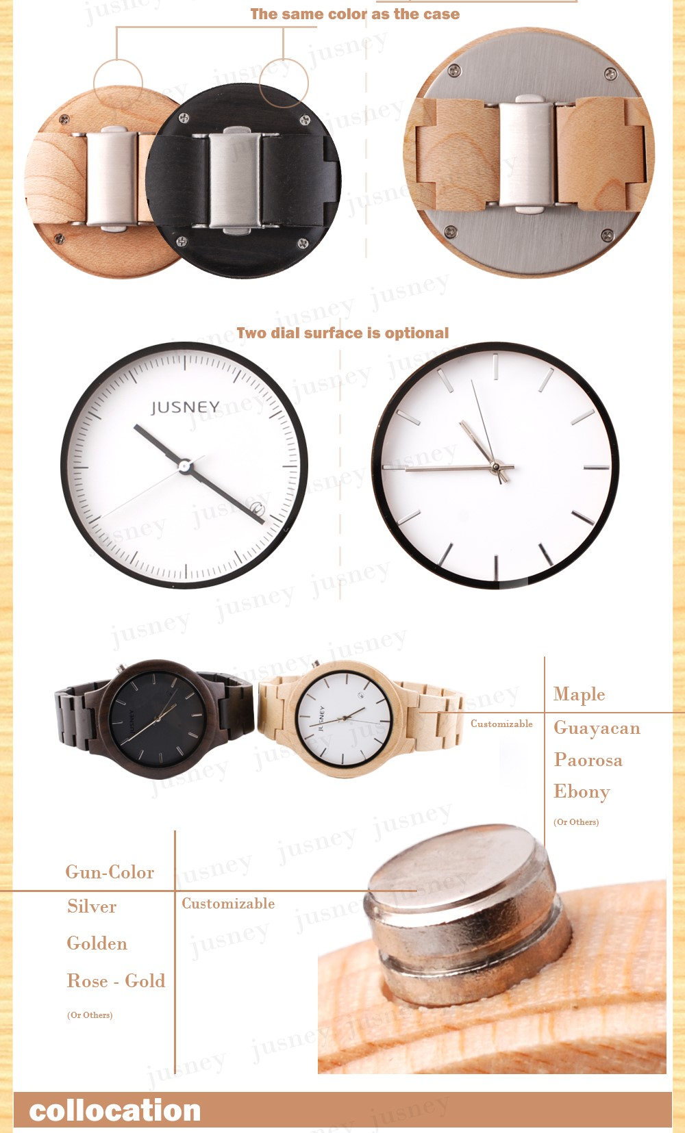 Bamboo Wooden Watches 2017 New Products Men's With Genuine wooden Band Luxury Wood Watches for Men Best Gift