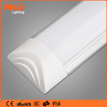 Led linear light fixture 4ft 1200mm tri proof 36W led tube lighting, ceiling surface mounted led wide flat tube batten light
