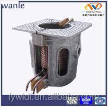 New design aluminum alloy, iron chips and steel scrap induction melting furnace