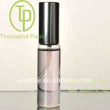 TP-3-09 15ml Perfume tube glass bottle with aluminum sprayer and aluminum cap