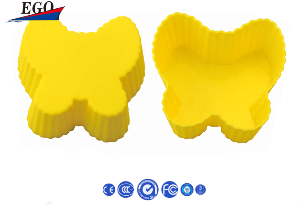 Rabbit shape colorful silicone cake mould