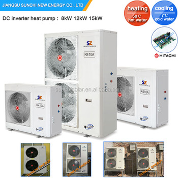 COP4.4 Heating Cooling Room 8kW 15kW 220V~240V 50Hz/60Hz DC Inverter Air To Water Monoblock Heat Pump